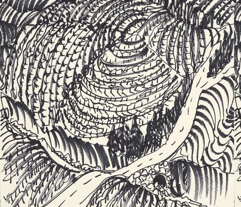 Vine_Bowl_napkins fabric by heather_bird_fabrics on Spoonflower - custom fabric