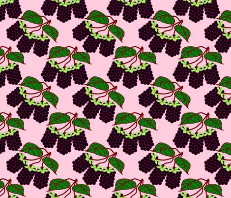 BlackBerryPink fabric by grannynan on Spoonflower - custom fabric