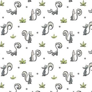Skunks - on white