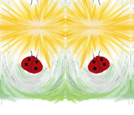 Whimsical Ladybug fabric by glendat on Spoonflower - custom fabric