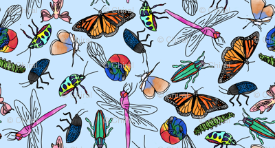 Watercolor Insects