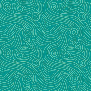 Sweet Swirl - Retro Teal