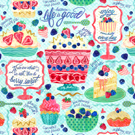 Berry Sweet fabric by sarah_treu on Spoonflower - custom fabric