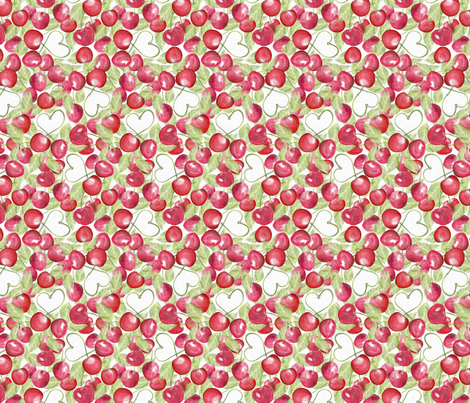 Painted_Cherries fabric by j9design on Spoonflower - custom fabric