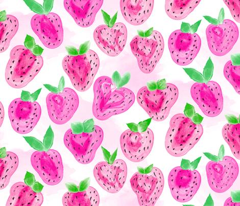 Strawberry Delight fabric by orangefancy on Spoonflower - custom fabric