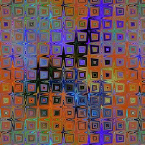 MINI PEBBLE SQUARE MOSAIC PURPLE ORANGE BURNT PSYCHEDELIC FEVER