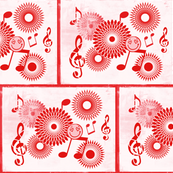 Musical Daze in Red and Pink - MD14