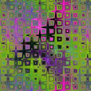 PEBBLE SQUARES MOSAIC LAVA LAMP GREEN LIME VIOLET FUCHSIA PINK PSYCHEDELIC FEVER