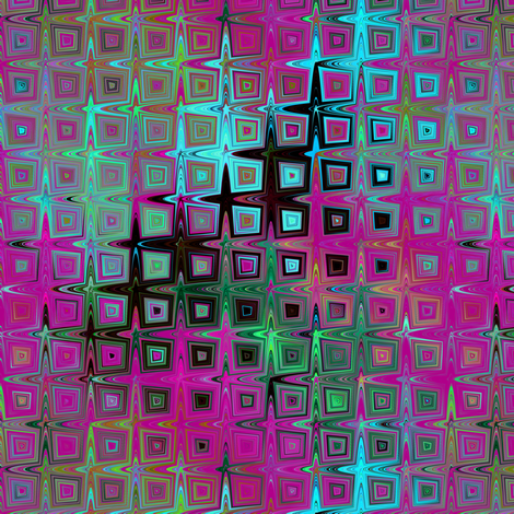 PEBBLE SQUARES MOSAIC LAVA LAMP FUCHSIA TURQUOISE LIME fabric by paysmage on Spoonflower - custom fabric