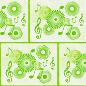 Musical Daze in Lime Green Trio - MD16