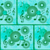 Musical Daze in Turquoise and Teal - MD19