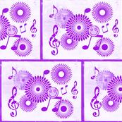 Musical Daze in Monochromatic Violet - MD42