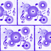 Musical Daze in Purple on White, MD43