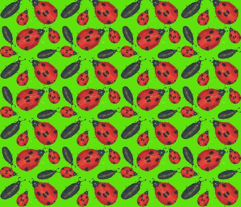 Watercolor beetles fabric by tatjana_melikhova on Spoonflower - custom fabric