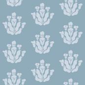 Calla Lily Stencil Pattern in Pale blue