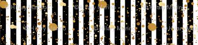 Stripes & Splatter - Gold - Micro Print