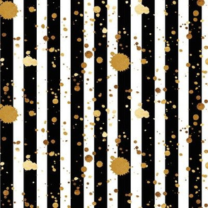 Stripes & Splatter - Gold - Micro Print