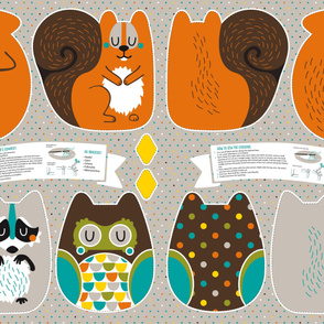 Animal Cushions Cut-and-Sew
