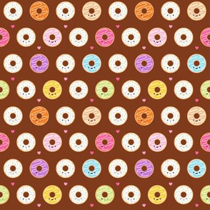 Happy Donuts on Brown