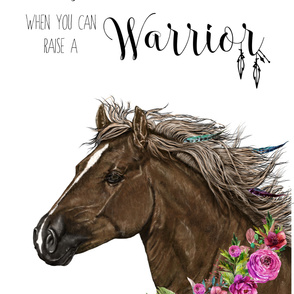 "56""x72"" / 2 YARDS  ORGANIC COTTON / Warrior Horse Quote"