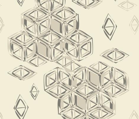 encoded_cube_light_large_cw2 fabric by jerebrooks on Spoonflower - custom fabric