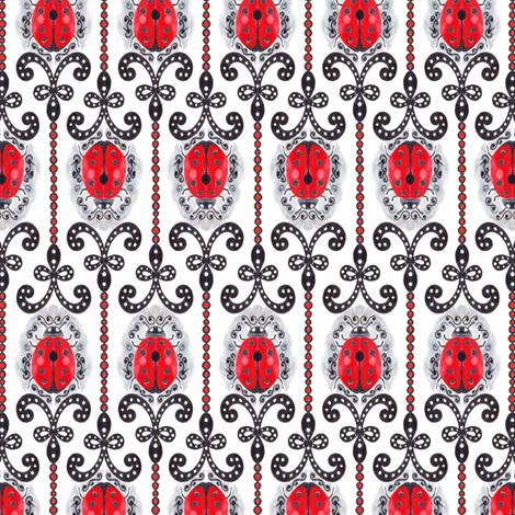 ClassyLadyBug fabric by pla_art_design on Spoonflower - custom fabric