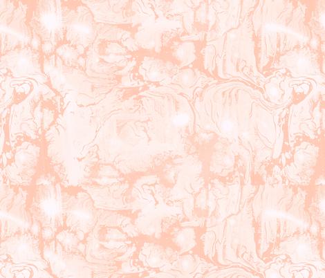 Abstract Paint Swirls Soft Peach fabric by thistleandfox on Spoonflower - custom fabric