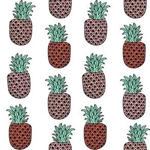 pineapple fabric // pineapples fruit fruits summer tropical design by andrea lauren - mint