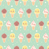 Ice Cream Pattern - Smaller Print