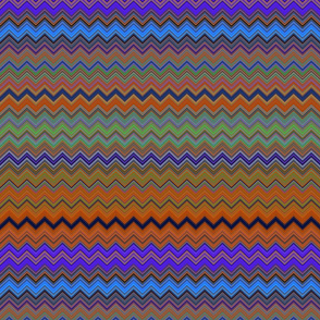 CHEVRON 1 LAMP PSYCHEDELIC FEVER PURPLE ORANGE BURNT