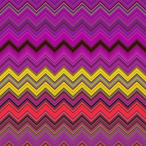 CHEVRON 1 LAMP PSYCHEDELIC FEVER FUCHSIA YELLOW
