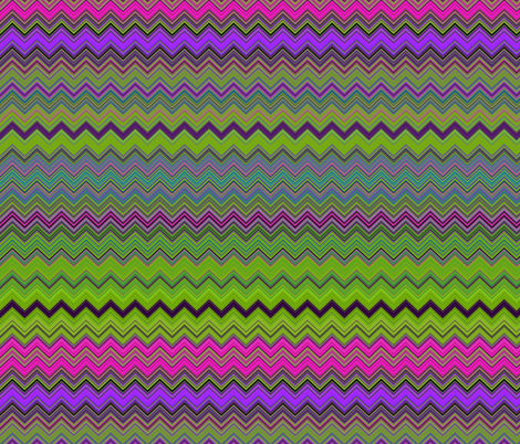 CHEVRON 1 LAMP PSYCHEDELIC FEVER GREEN LIME VIOLET FUCHSIA PINK fabric by paysmage on Spoonflower - custom fabric