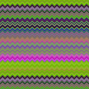 CHEVRON 2 LAMP PSYCHEDELIC FEVER GREEN LIME VIOLET FUCHSIA PINK