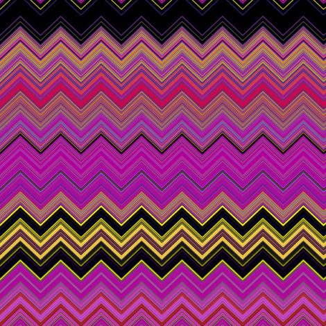 CHEVRON 3 LAVA LAMP PSYCHEDELIC FEVER FUCHSIA YELLOW fabric by paysmage on Spoonflower - custom fabric