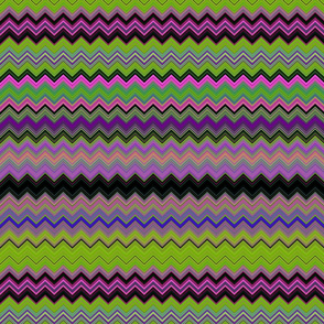 CHEVRON 3 LAMP PSYCHEDELIC FEVER GREEN LIME VIOLET FUCHSIA PINK