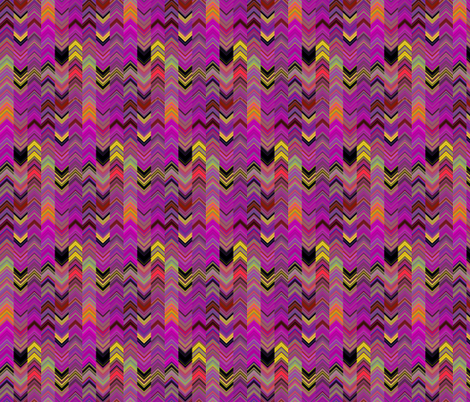 ALTERNATES CHEVRON LAVA LAMP FUCHSIA YELLOW PSYCHEDELIC FEVER fabric by paysmage on Spoonflower - custom fabric