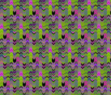 ALTERNATES CHEVRON LAVA LAMP GREEN LIME VIOLET FUCHSIA PINK PSYCHEDELIC FEVER fabric by paysmage on Spoonflower - custom fabric