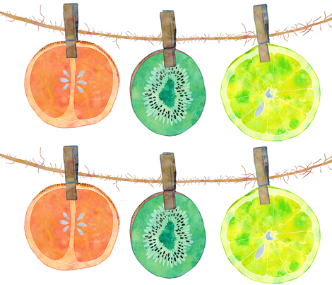 Low Hanging Fruit fabric by jvclawrence on Spoonflower - custom fabric