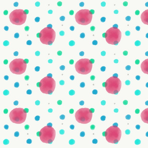 Pink & Blue Polka Dot Coordinate