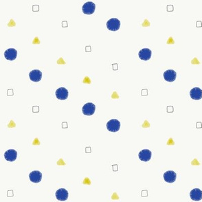 Yellow & Blue Geometric Coordinate