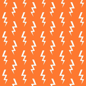 bolt fabric halloween lightning bolt design super hero bolt design orange