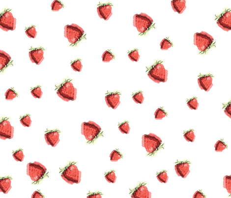 Strawberries fabric by laurachristie on Spoonflower - custom fabric