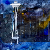 Night Life in Seattle by Salzanos