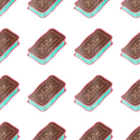 Yummy chocolate mint ice cream sandwich fabric by outshop on Spoonflower - custom fabric