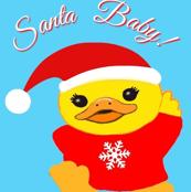 Santa , Christmas Holiday ,Kawaii Duck baby
