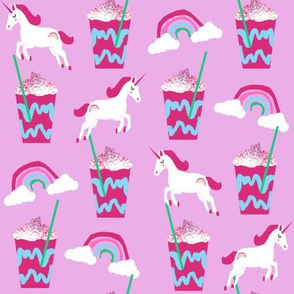 unicorn coffee iced coffees and unicorns purple