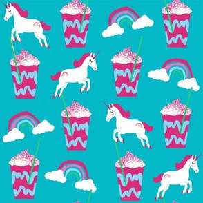 unicorn coffee iced coffees and unicorns turquoise