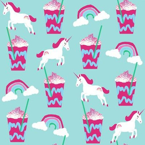 unicorn coffee iced coffees and unicorns blue