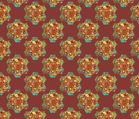 Rrrhexagons_mandala_flower_chestnut_chocolate_shop_preview