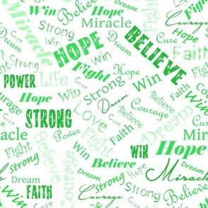 Cancer Positive Words - Greens